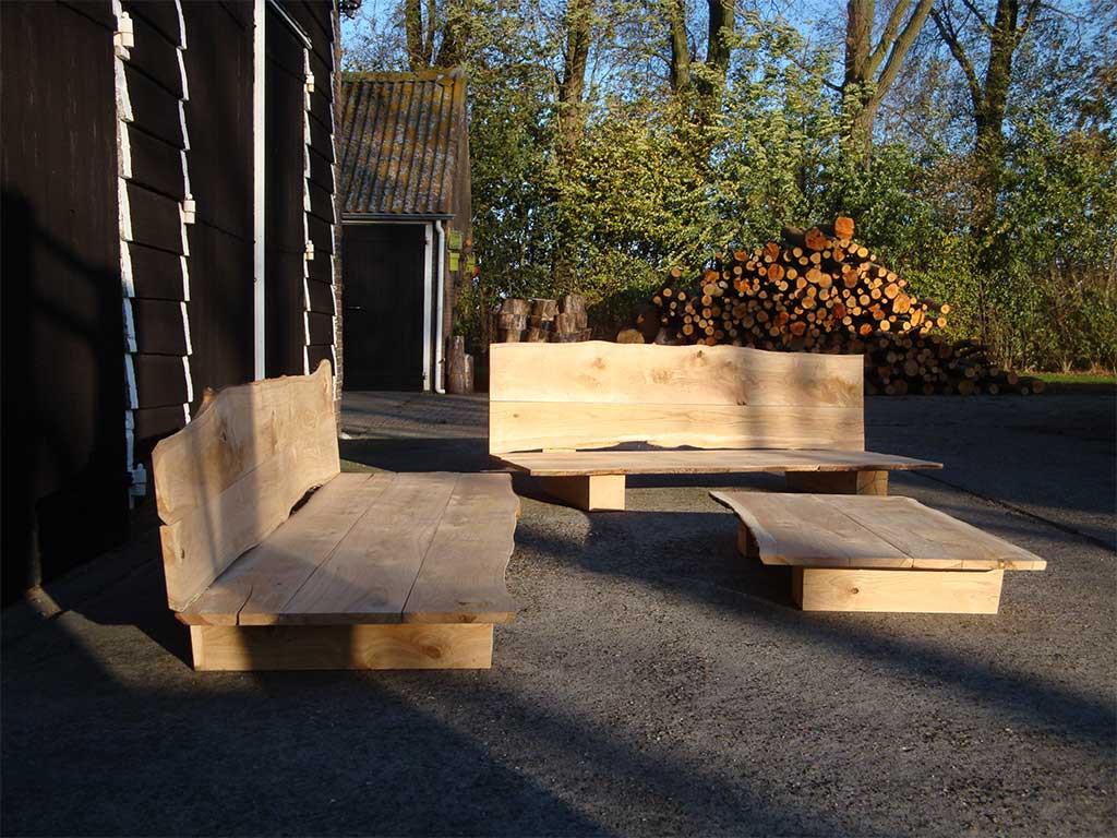 Loungeset van massief europees eiken leelant haardhout houthandel leelant haardhout houthandel - Tuinmeubelen buiten ...